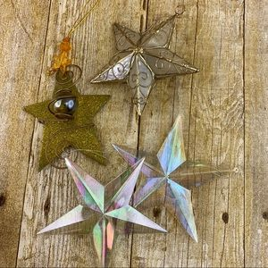 Other - Christmas Ornament Stars Lot Of 4